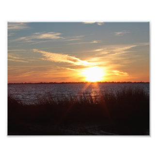 Sunset on Chincoteague Island. Photo Print