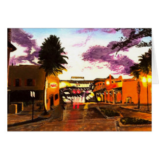 Sunset on Church Street Card