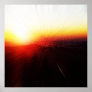 Sunset on Clingman's Dome Smokey Mountains Poster
