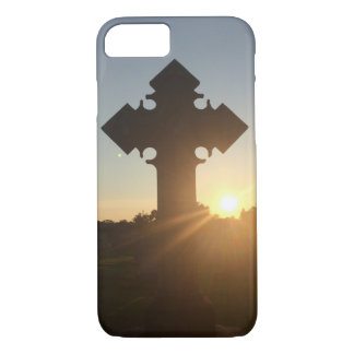 Sunset on Cross iPhone 7 Case