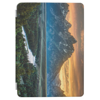 Sunset On Grand Teton And Snake River - Wyoming iPad Air Cover