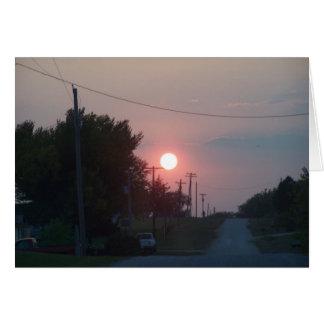 Sunset On Helmet Road Card