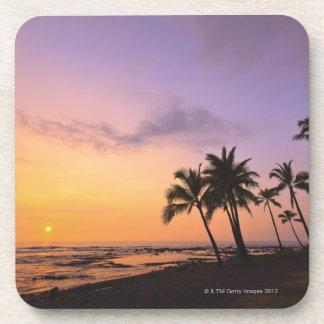 Sunset on Kahaluu Bay in Kona,Hawaii 2 Drink Coaster