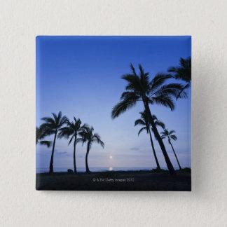 Sunset on Kahaluu Bay in Kona,Hawaii 2 Inch Square Button