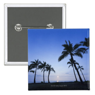 Sunset on Kahaluu Bay in Kona,Hawaii 2 Inch Square Button