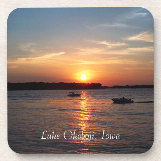 Sunset on Lake Okoboji, Iowa Drink Coasters