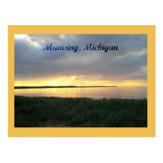 Sunset on Lake Superior in Munising, Michigan Postcard