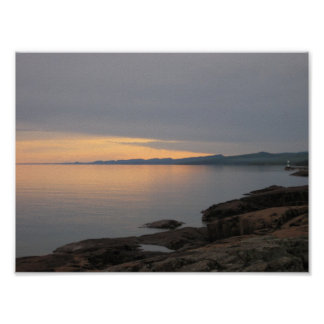 Sunset on Lake Superior Poster