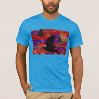 Sunset on Lake Wendouree Australian Aboriginal Art T-Shirt