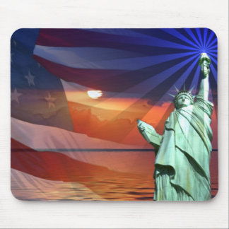 Sunset on Liberty Mouse Pad