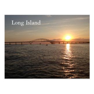 Sunset on Long Island Postcard