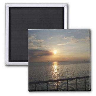 Sunset on Manila Bay, Philippines - Beverly Goding Magnet