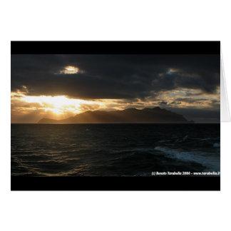 Sunset on Marettimo Card