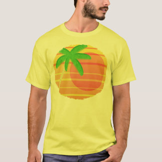 Sunset on Maui Oval T-Shirt