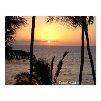 Sunset on Maui Postcard