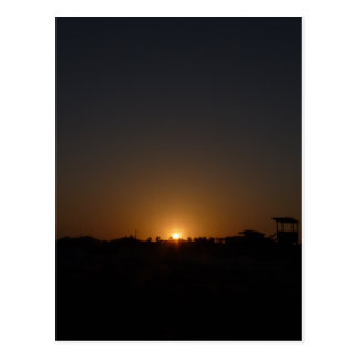 Sunset on Mustang Island Postcard