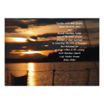 Sunset on on a Sail Boat Wedding Custom Announcements
