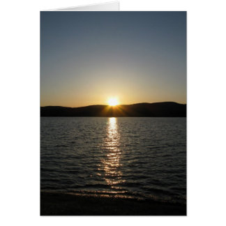 Sunset on Onota Lake: Vertical Card