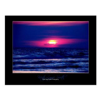 Sunset on Panama City Beach postcard