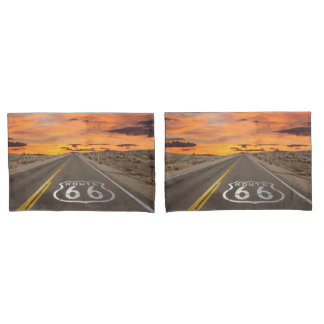 Sunset on Route 66 Pillow Case Set