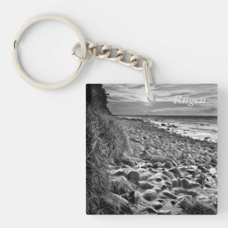 Sunset on Rügen Single-Sided Square Acrylic Keychain