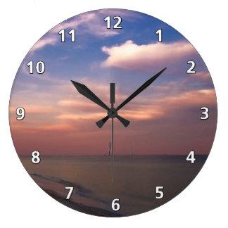 Sunset on Sanibel Island Large Clock