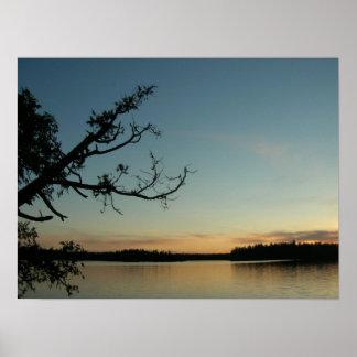 Sunset on Sawbill Lake Poster