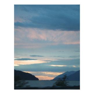 Sunset On Seward Highway Alaska Customized Letterhead