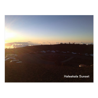 Sunset on Summit of Haleakala- Maui Hawaii Postcard