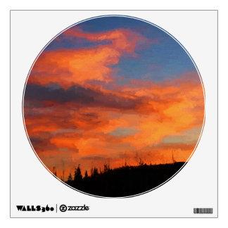 Sunset on Swan Lake Wall Sticker