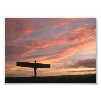 Sunset on the angel photo print