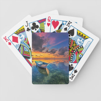 Sunset On the Bay Bicycle Playing Cards