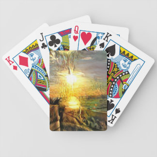 Sunset on the Beach Bicycle Playing Cards