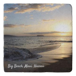 Sunset on the Beach Hawaiian Stone Trivet