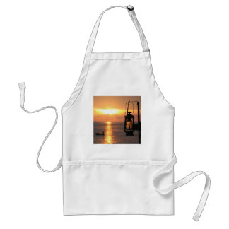 Sunset on the Beach Lamp And Ship Adult Apron