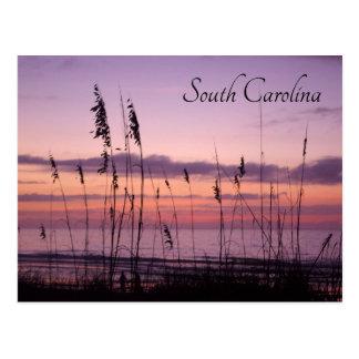 Sunset on the Beach Postcard