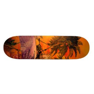 Sunset on the beach skateboard deck