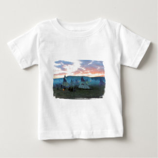 Sunset on the camp baby T-Shirt