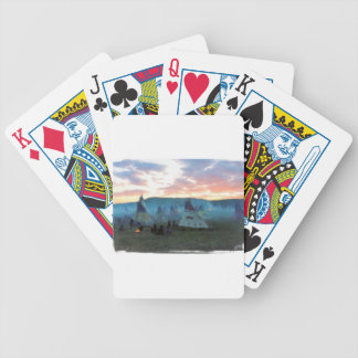 Sunset on the camp bicycle playing cards