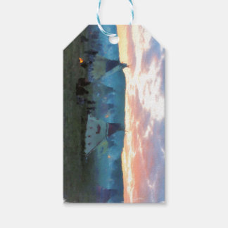 Sunset on the camp gift tags