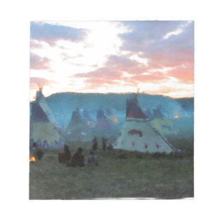 Sunset on the camp notepad