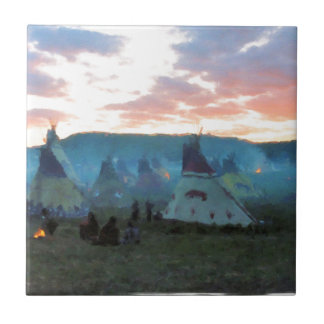 Sunset on the camp tile
