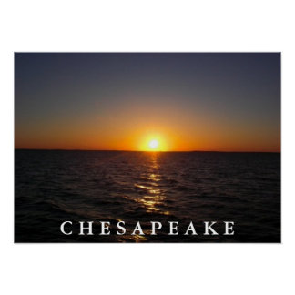 Sunset on the Chesapeake Poster