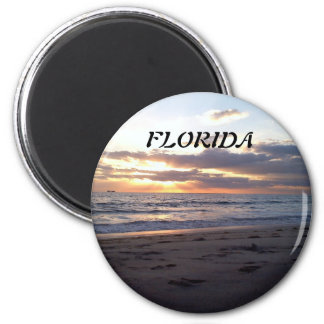SUNSET ON THE GULF 2 INCH ROUND MAGNET