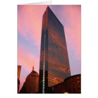 Sunset on the Hancock Tower Card