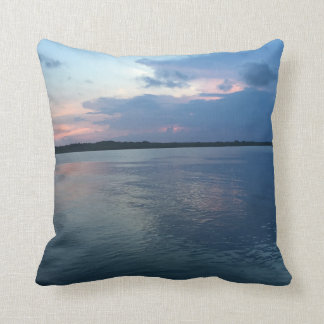 "Sunset on the Intercoastal Throw Pillow 16"" x 16"""