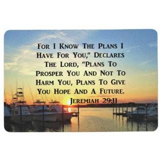 SUNSET ON THE LAKE JEREMIAH 29:11 FLOOR MAT