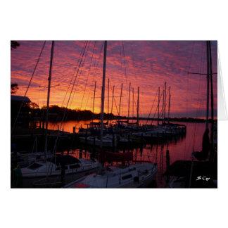 Sunset on the Marina Card