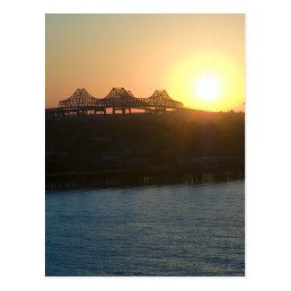 Sunset on the Mississippi Postcard