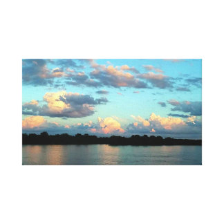 Sunset on the Mississippi River Canvas Print